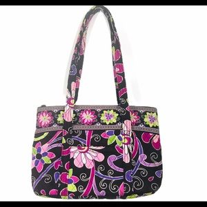 VERA BRADLEY Purple Punch Shoulder Bag